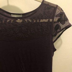Purple lace cap sleeve shirt
